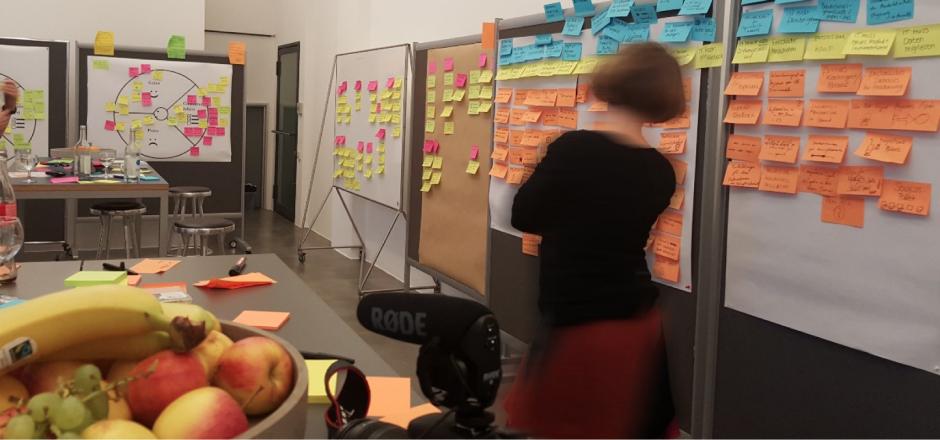 Phòng thảo luận của MetaDesign Berlin để thực hiện các Sprint